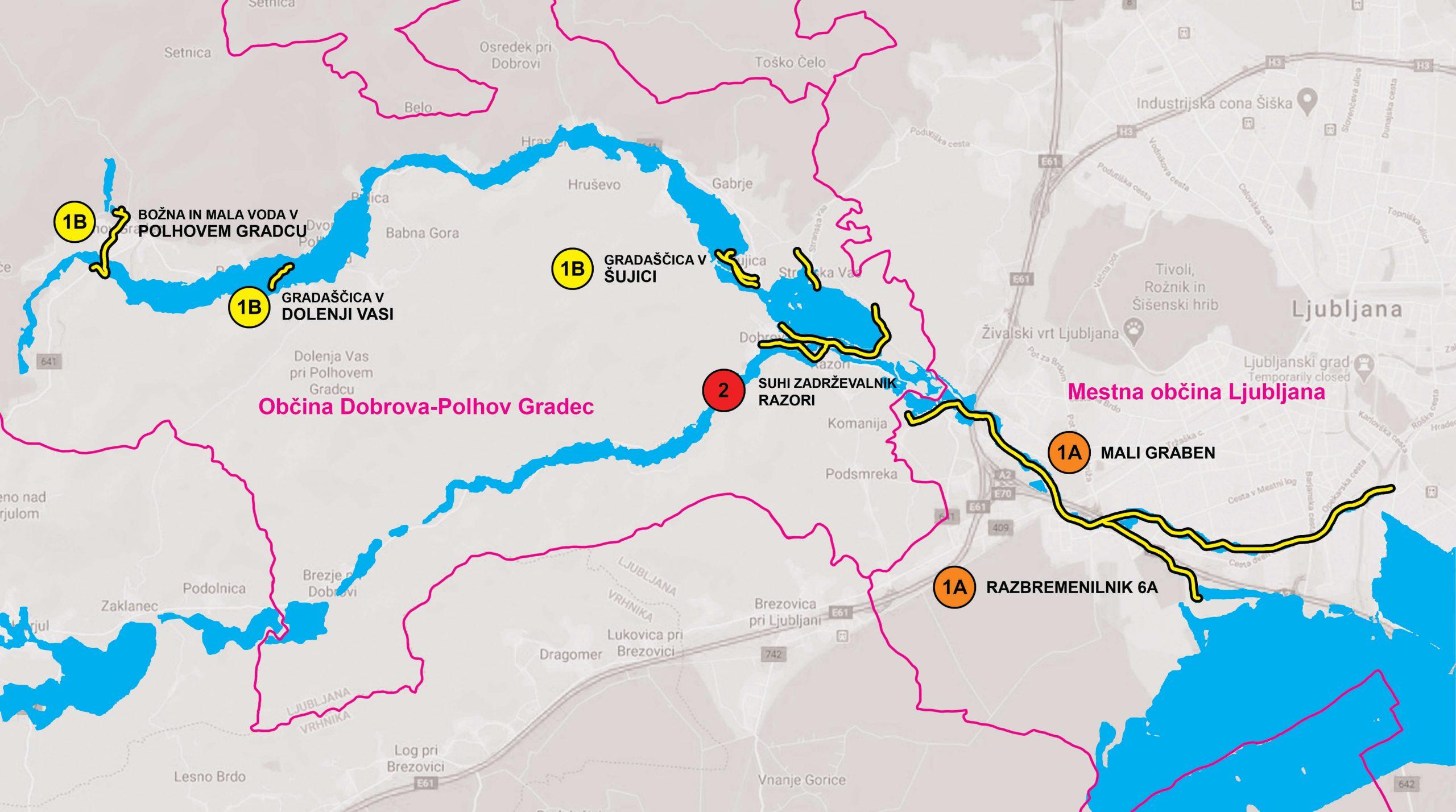 Zemljevid etap projekta